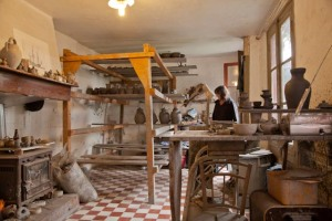 A potter's studio in Saint Jean Pied de Port.